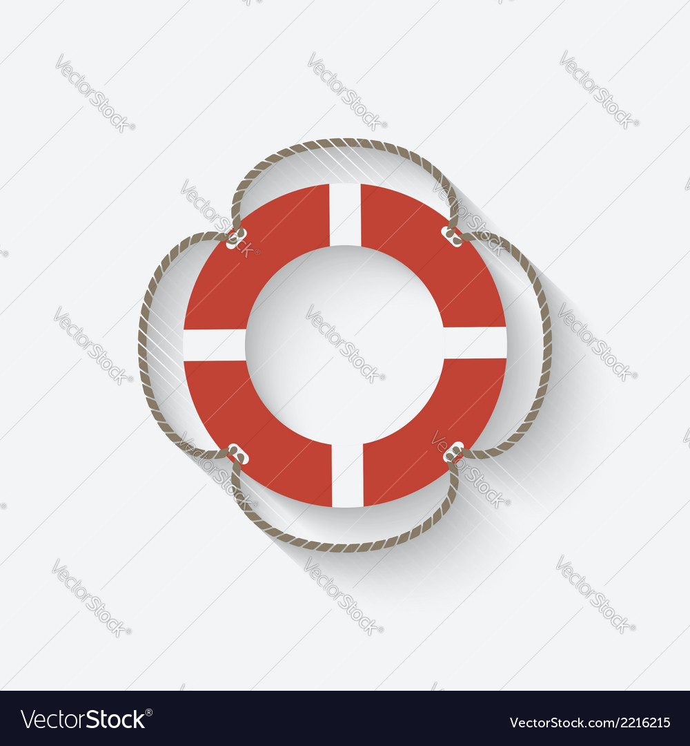 Lifebuoy symbol vector | Price: 1 Credit (USD $1)