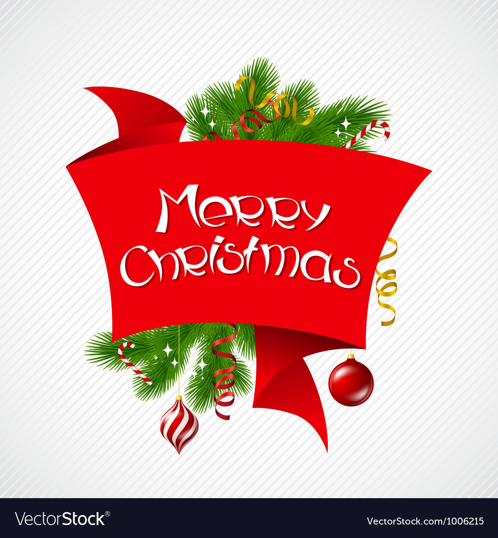 Merry christmas background with glossy balls vector | Price: 1 Credit (USD $1)
