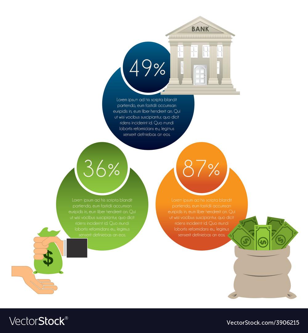 Money infographics vector   Price: 1 Credit (USD $1)