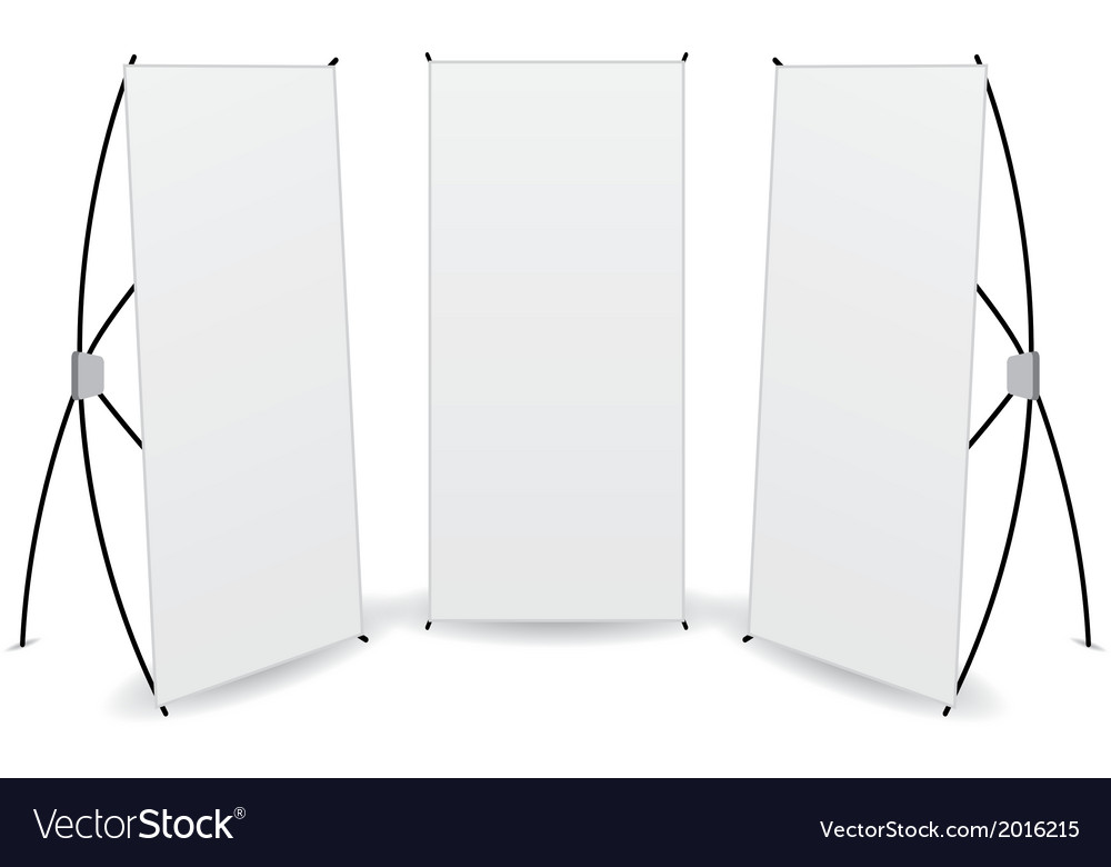Pack banner x-stands display isolated vector | Price: 1 Credit (USD $1)