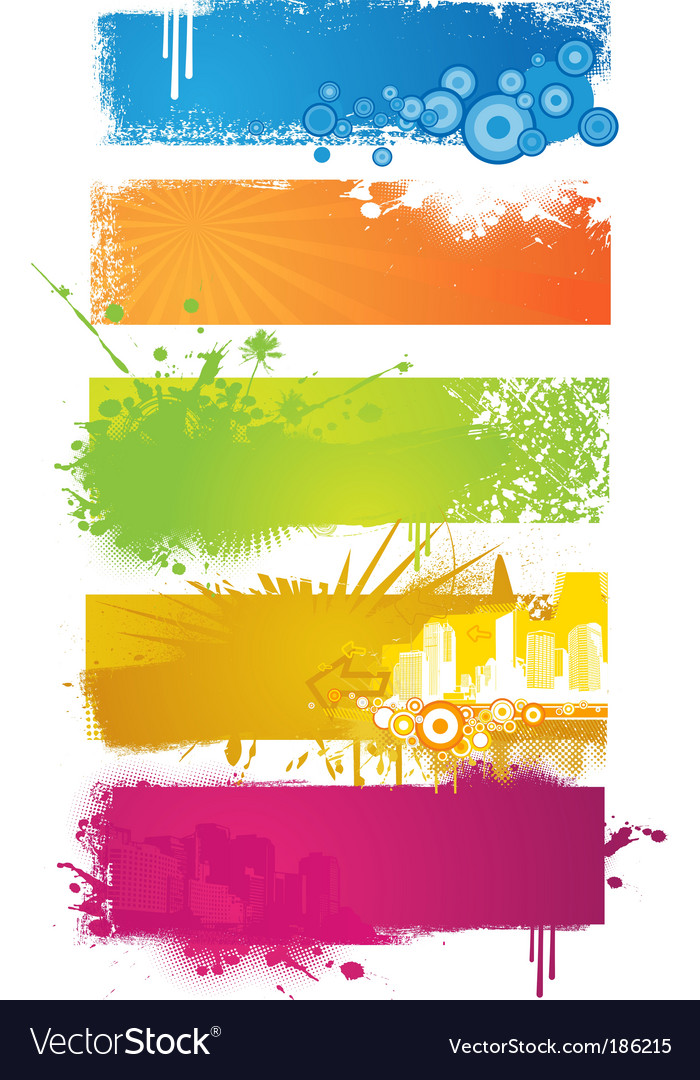 Set of colored banners vector | Price: 1 Credit (USD $1)