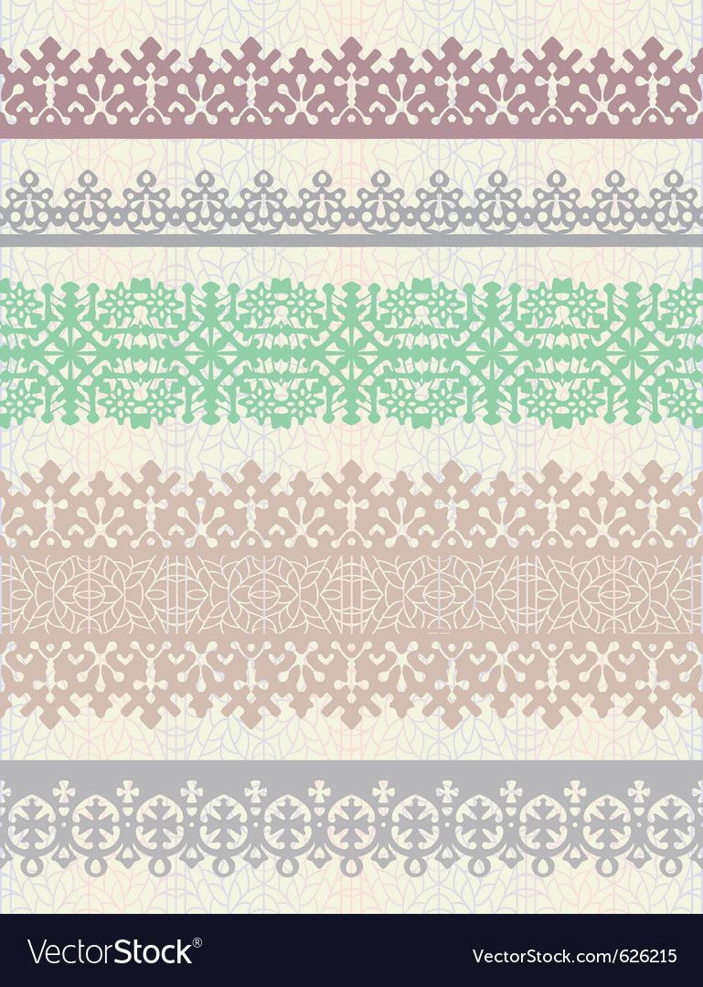 Set of vintage borders vector | Price: 1 Credit (USD $1)