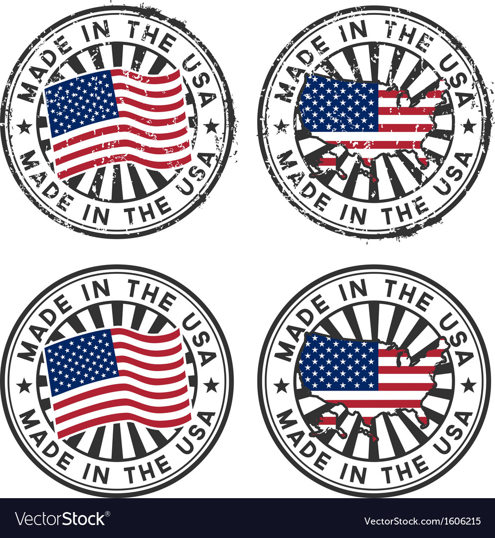 Stamp with map flag of the usa made in the usa vector   Price: 1 Credit (USD $1)