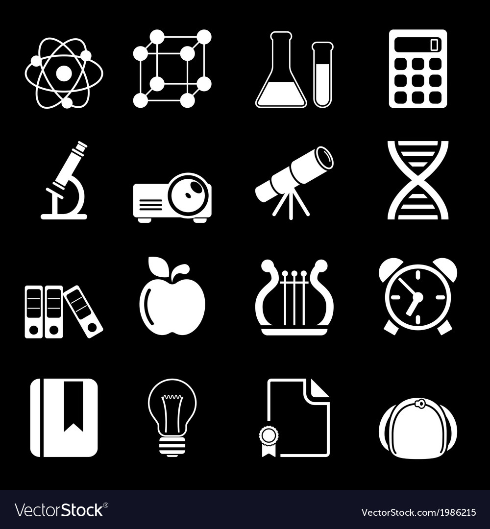 White education icons vol 2 vector | Price: 1 Credit (USD $1)