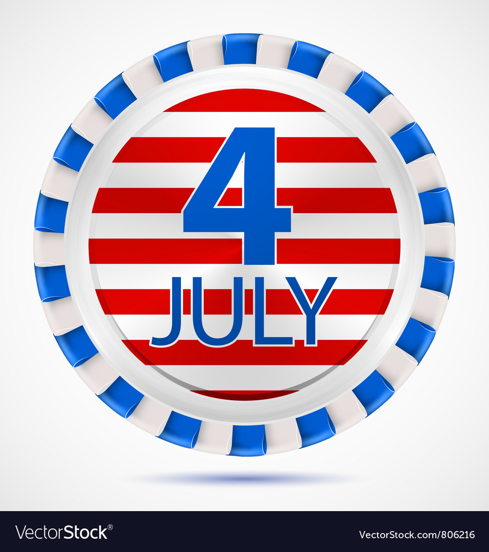4th july label vector | Price: 1 Credit (USD $1)
