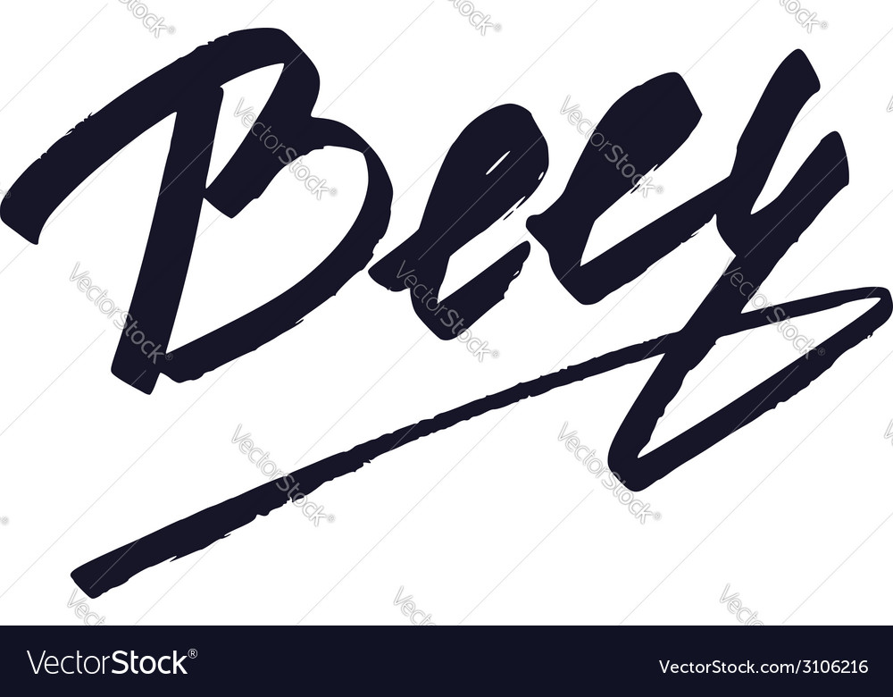 Beer lettering handmade calligraphy vector | Price: 1 Credit (USD $1)