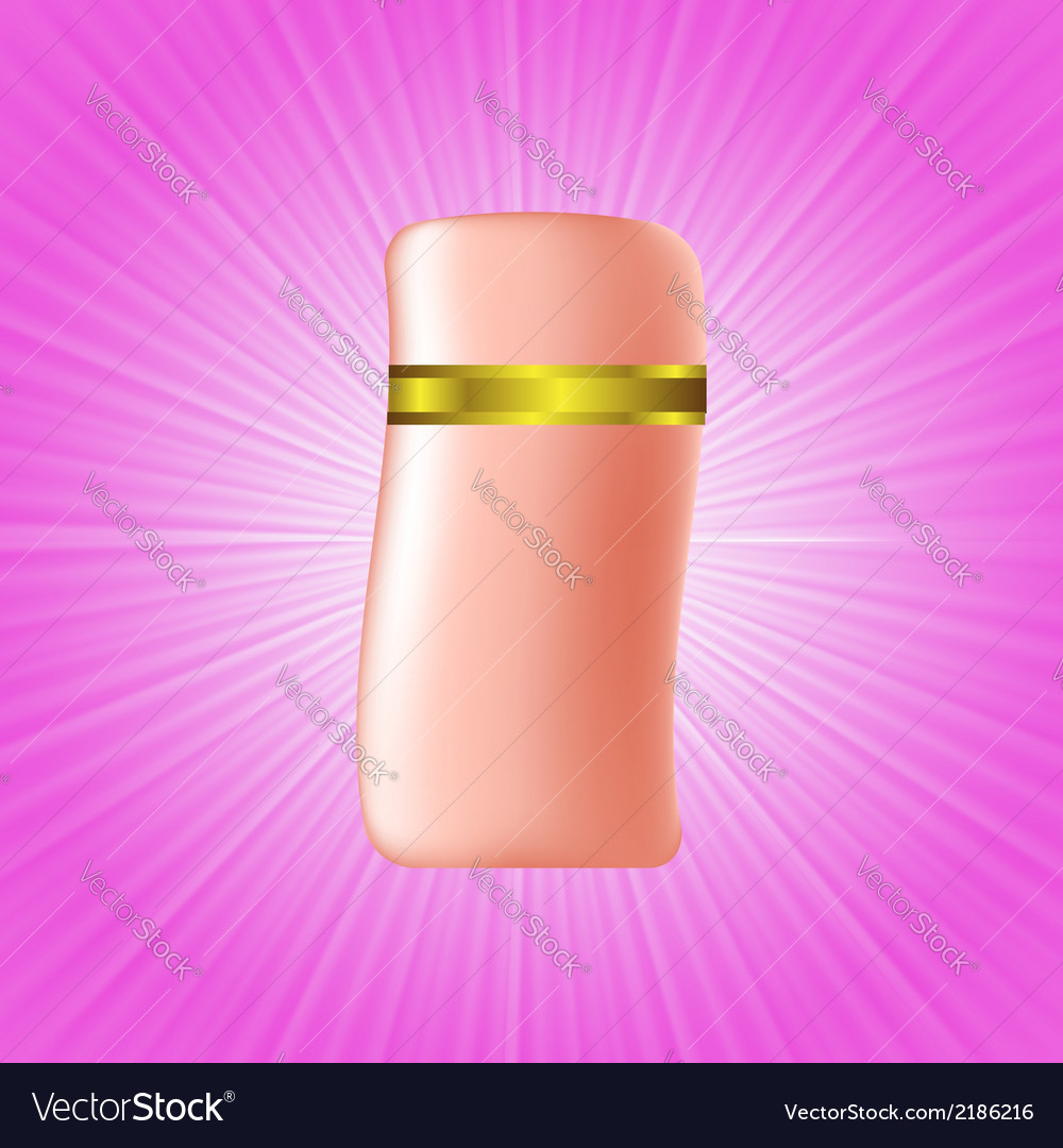 Cosmetic bottle vector | Price: 1 Credit (USD $1)