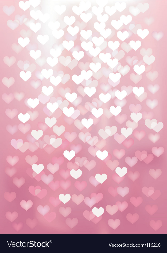 Defocused lights in heart shape vector | Price: 1 Credit (USD $1)