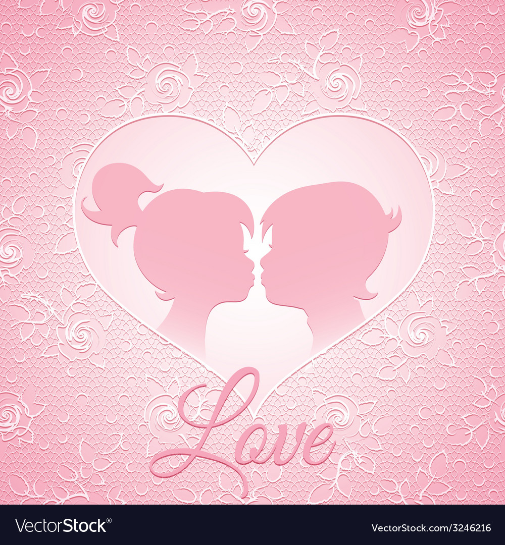 Delicate pink love card vector | Price: 1 Credit (USD $1)