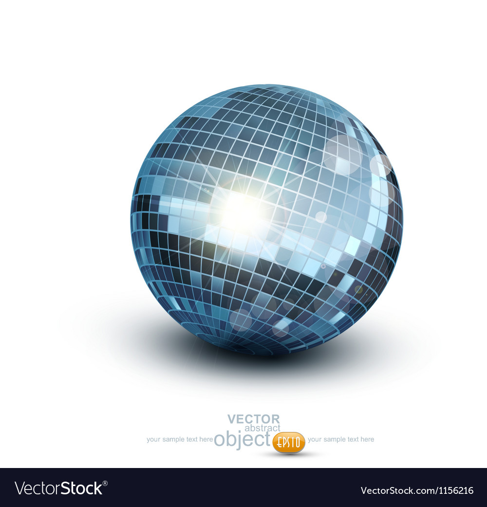 Disco ball on a white background vector | Price: 1 Credit (USD $1)
