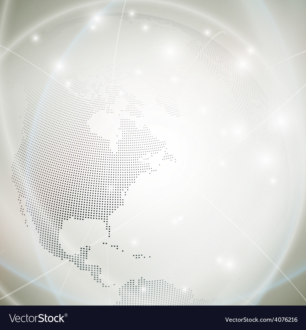 Dotted world globe light design vector | Price: 1 Credit (USD $1)