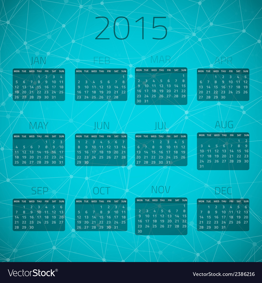 Gloss connection calendar 2015 background vector | Price: 1 Credit (USD $1)