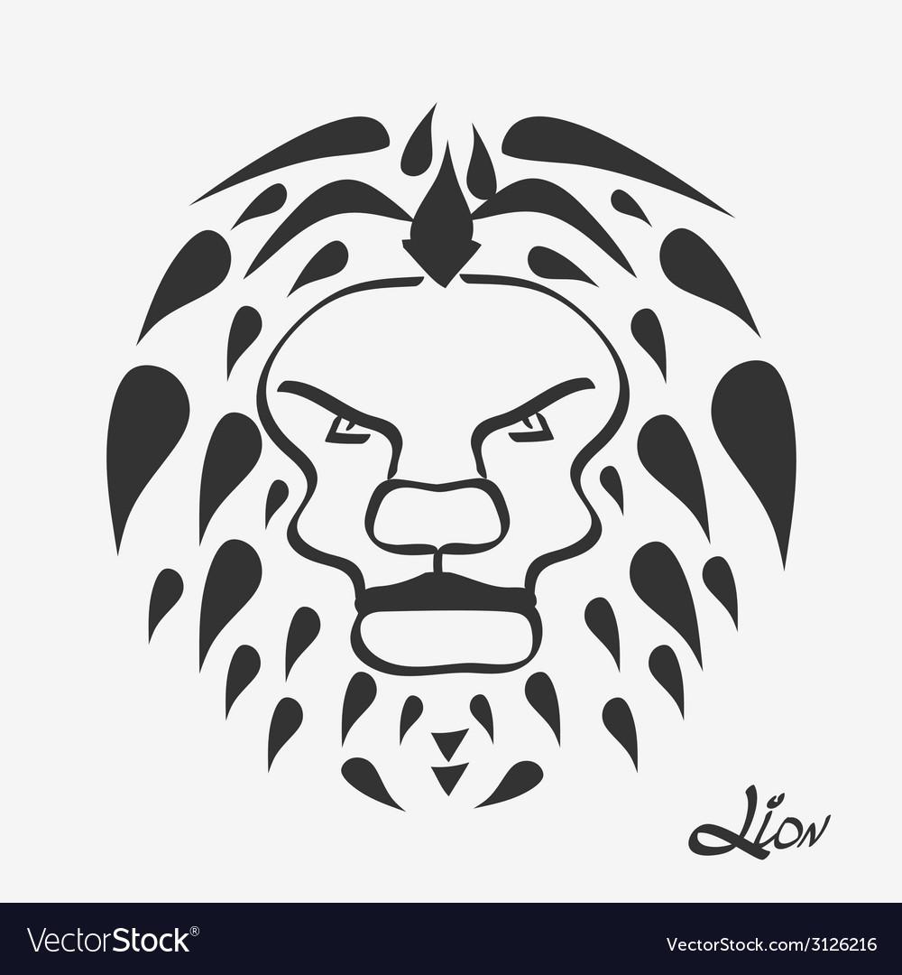 Lion head - vector | Price: 1 Credit (USD $1)