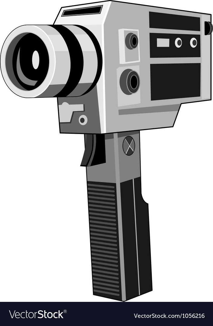 Vintage video camera retro vector | Price: 3 Credit (USD $3)