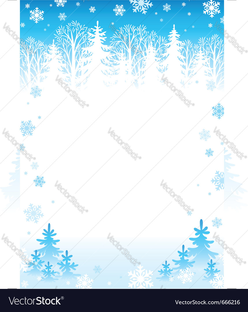 Winter forest background vector | Price: 1 Credit (USD $1)