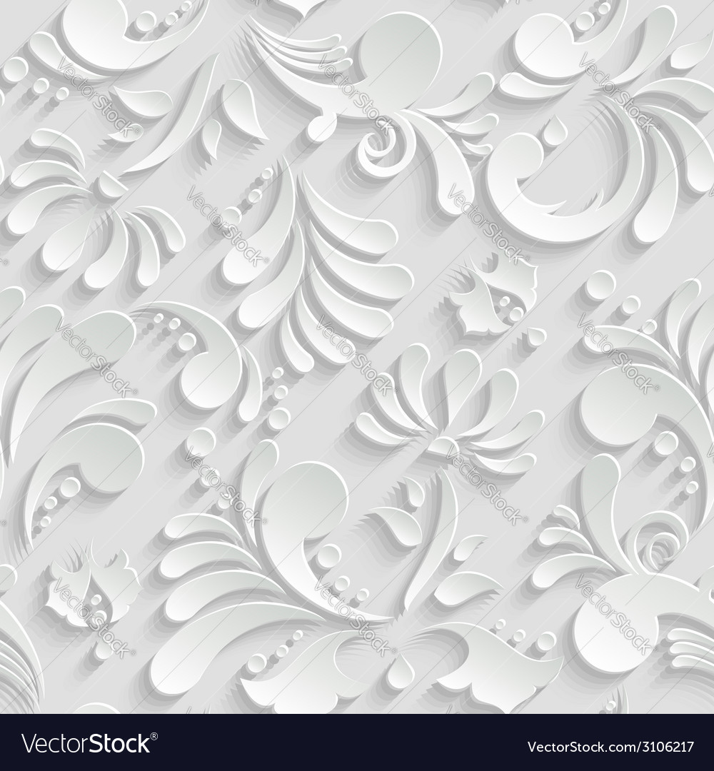 Abstract floral 3d seamless pattern trendy design vector | Price: 1 Credit (USD $1)