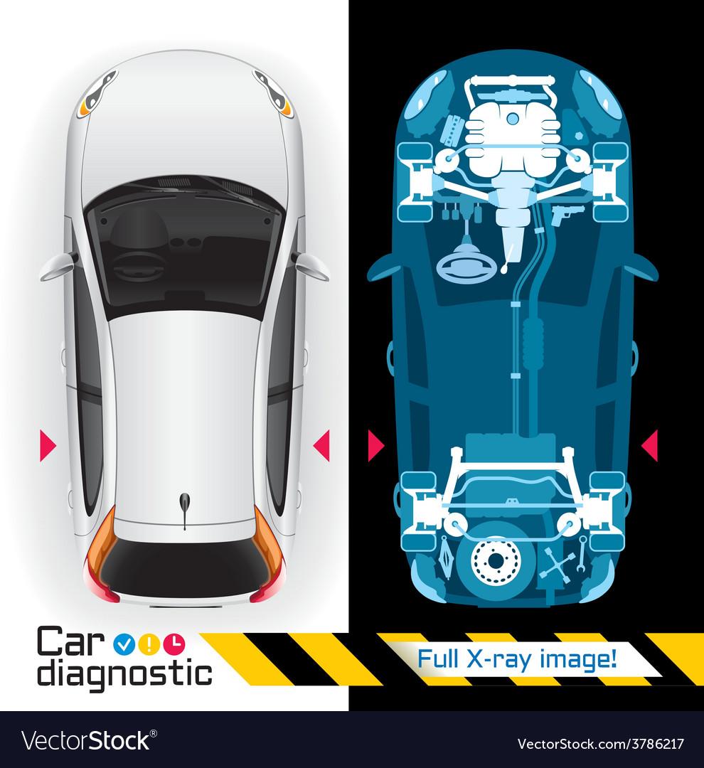 Car diagnostic full x ray vector | Price: 5 Credit (USD $5)