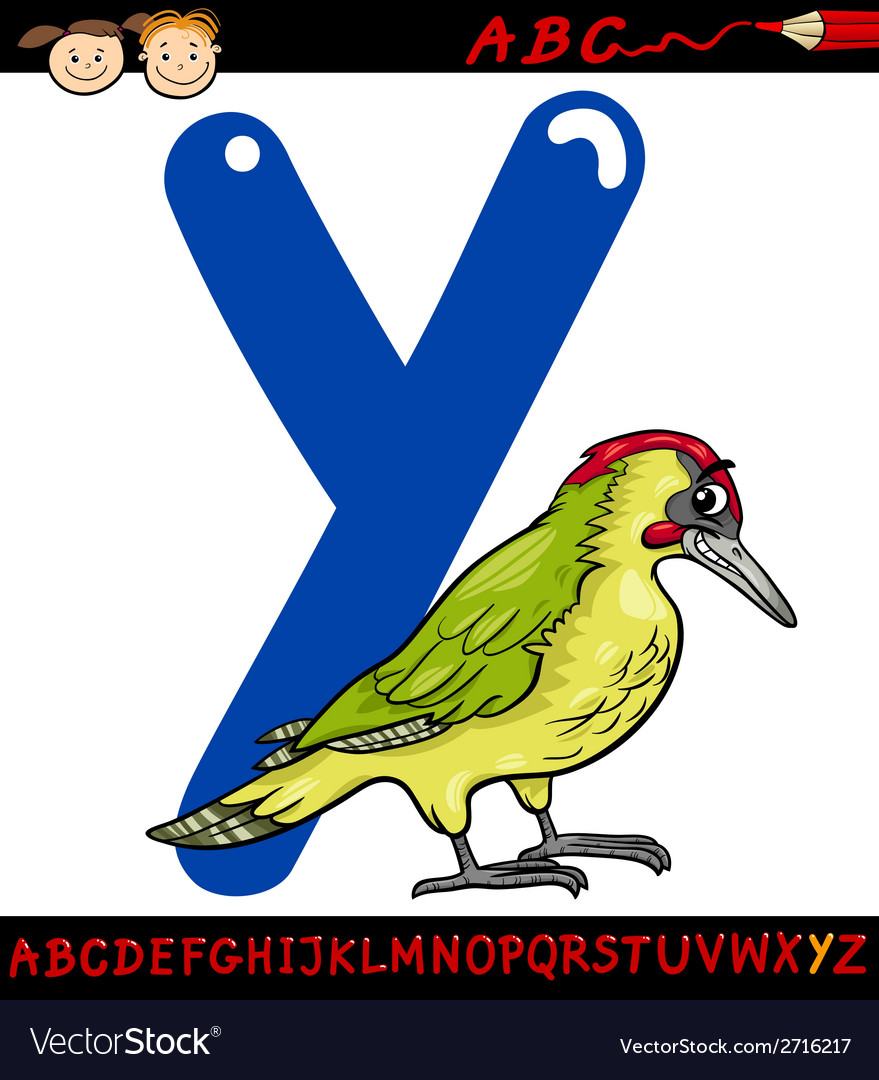 Letter y for yaffle cartoon vector | Price: 1 Credit (USD $1)