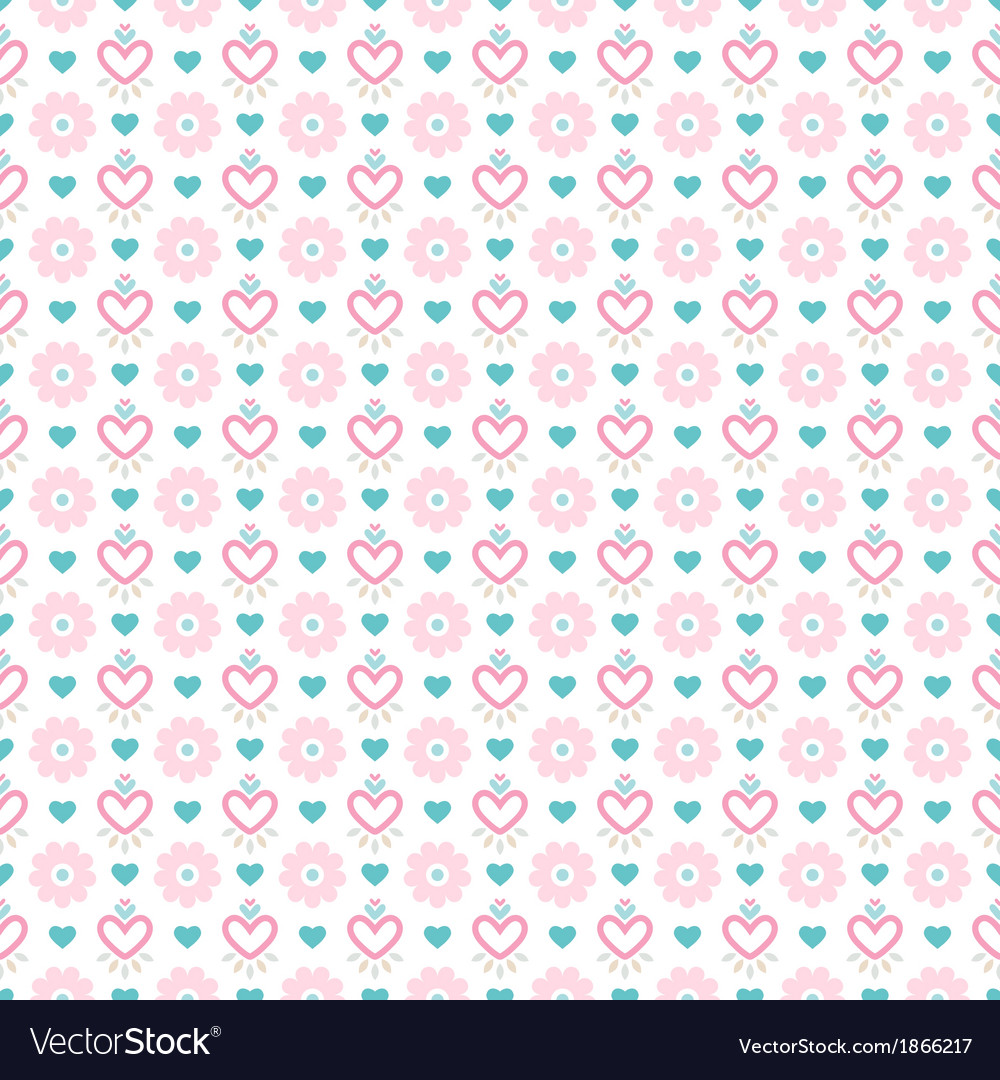 Light floral romantic pattern tiling vector | Price: 1 Credit (USD $1)