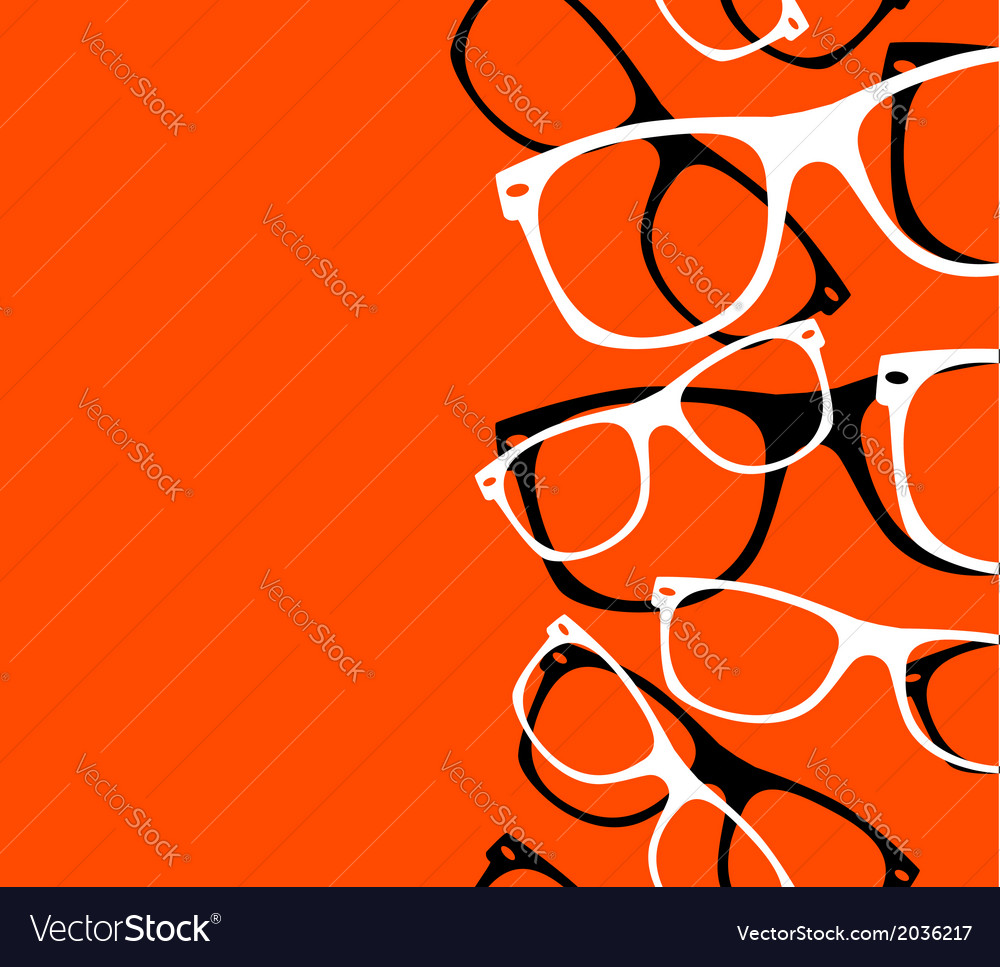 Pattern retro hipster sunglasses abstract vector | Price: 1 Credit (USD $1)