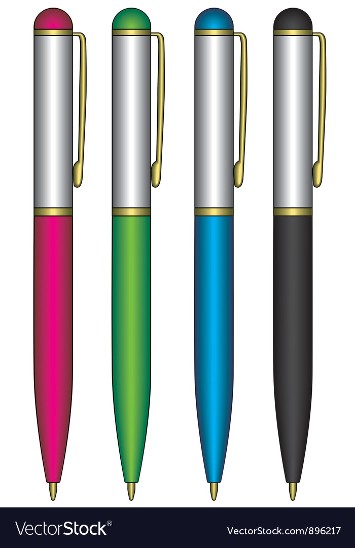 Pens vector | Price: 1 Credit (USD $1)