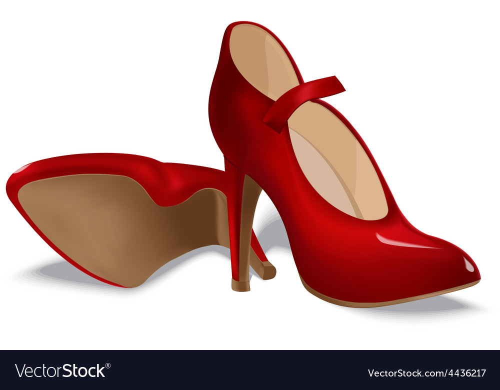 Red shoes for women vector | Price: 1 Credit (USD $1)