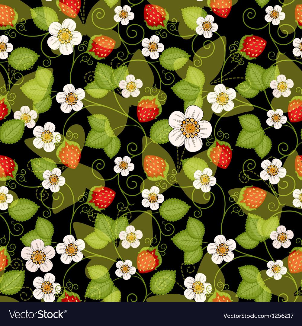 Seamless spring dark floral pattern vector | Price: 1 Credit (USD $1)