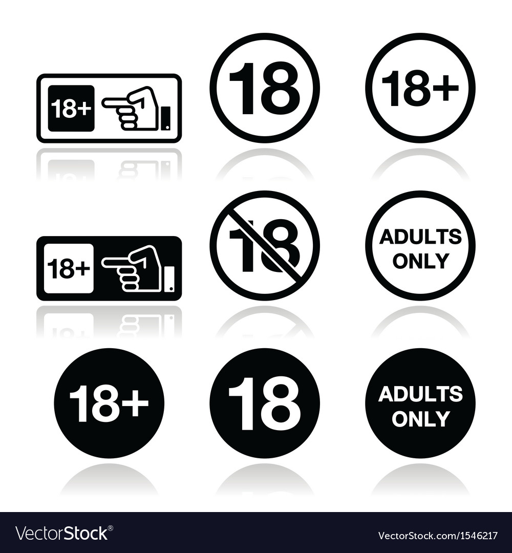 Under 18 adults only warning sign vector | Price: 1 Credit (USD $1)