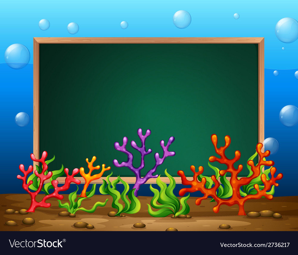 Underwater banner vector | Price: 1 Credit (USD $1)