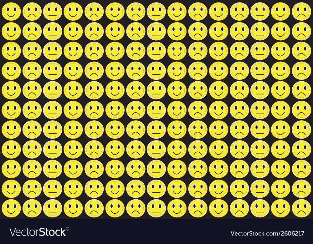 Yellow smiles background vector | Price: 1 Credit (USD $1)