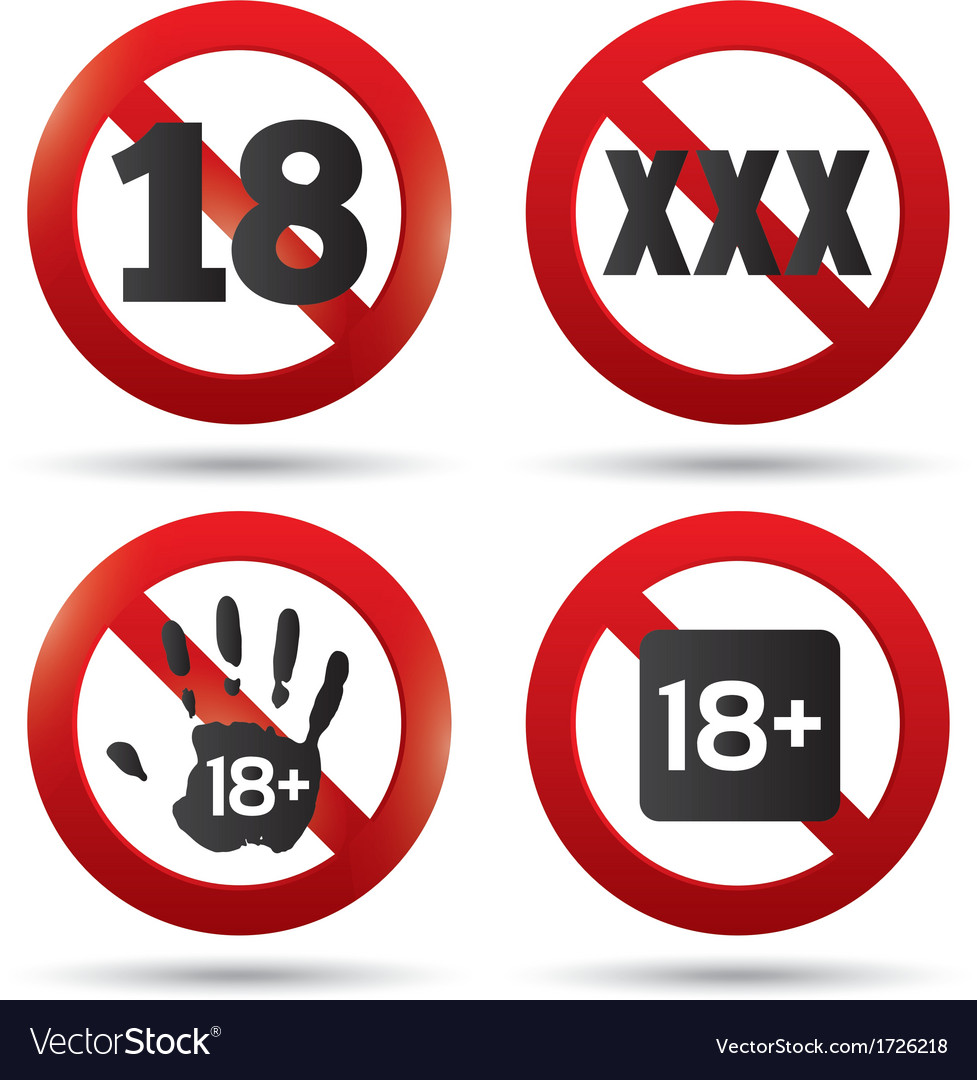 Adults only content button xxx sticker vector | Price: 1 Credit (USD $1)