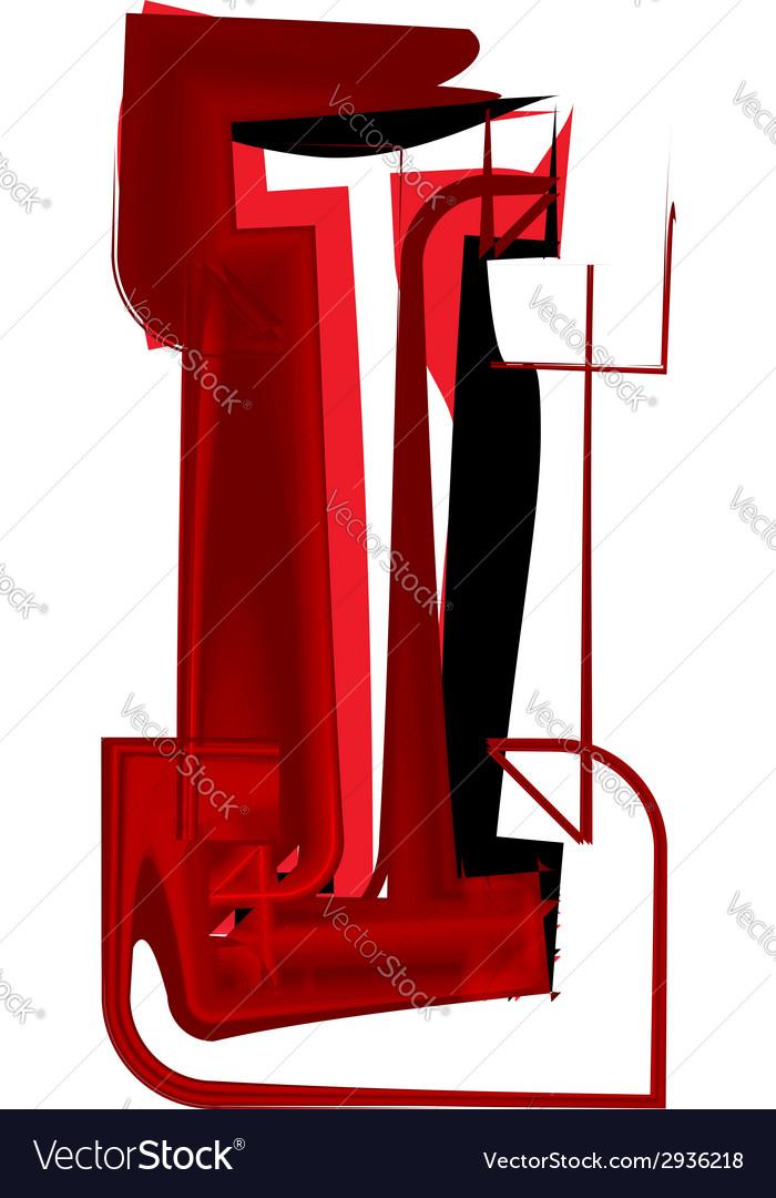 Artistic font letter i vector | Price: 1 Credit (USD $1)