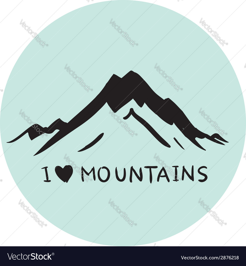 Blue mountains vector | Price: 1 Credit (USD $1)