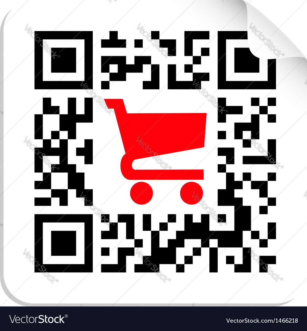 Buy label sign qr code vector | Price: 1 Credit (USD $1)