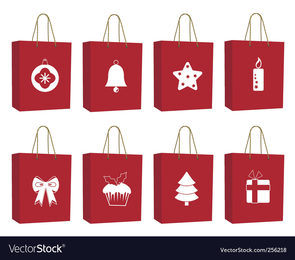 Christmas bags vector   Price: 1 Credit (USD $1)