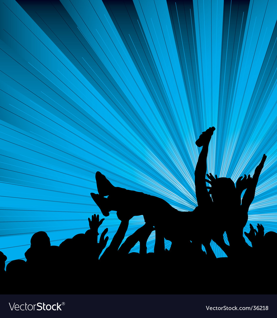 Crowd surf vector | Price: 1 Credit (USD $1)