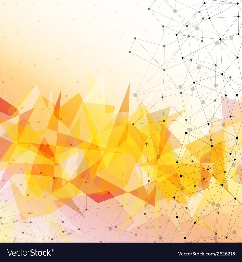 Orange triangle design background vector | Price: 1 Credit (USD $1)