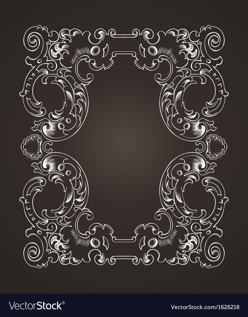 Ornate frame on brown vector | Price: 1 Credit (USD $1)