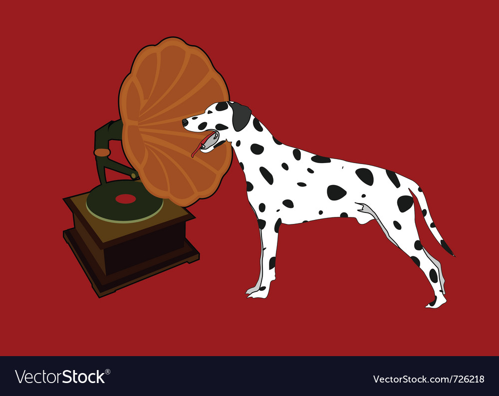 Phonograph and dalmation vector | Price: 1 Credit (USD $1)