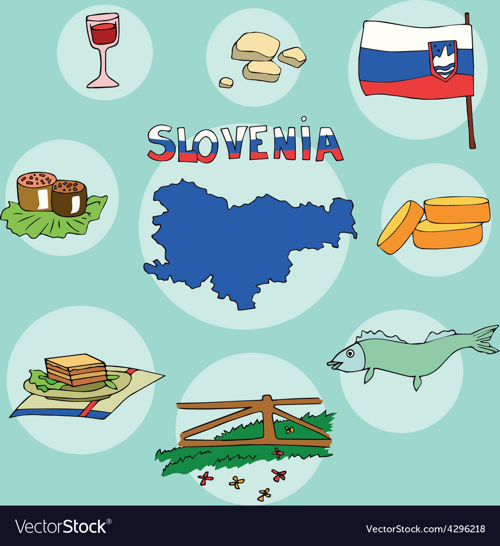 Set of national profile of the slovenia vector | Price: 1 Credit (USD $1)