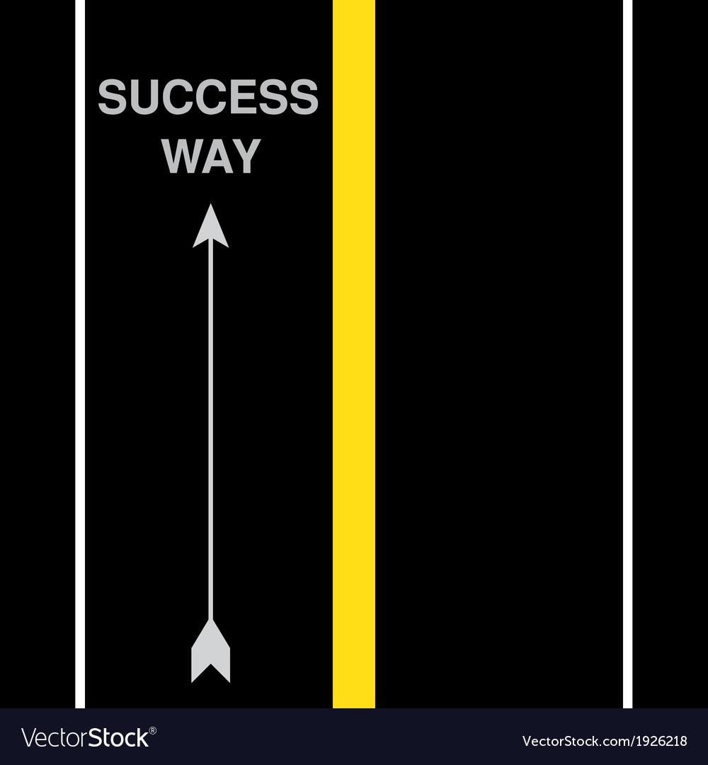 Success street road vector   Price: 1 Credit (USD $1)