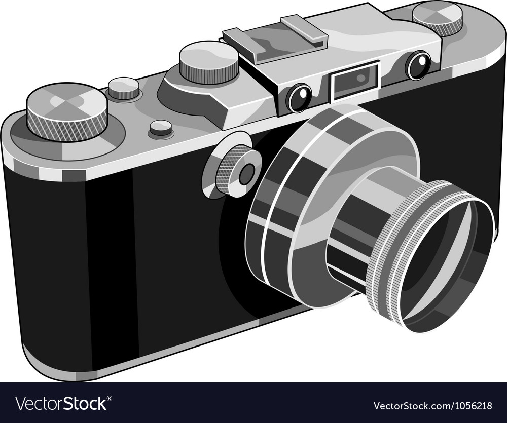 Vintage camera retro vector | Price: 3 Credit (USD $3)