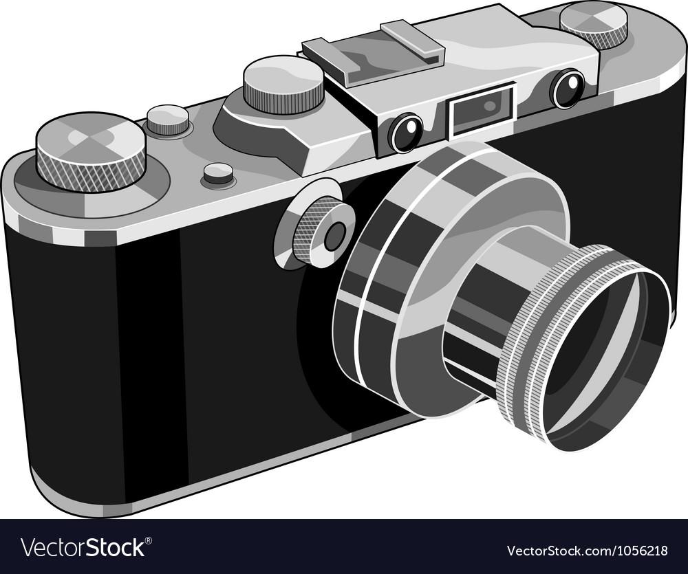 Vintage camera retro vector | Price: 3 Credit (USD $3)