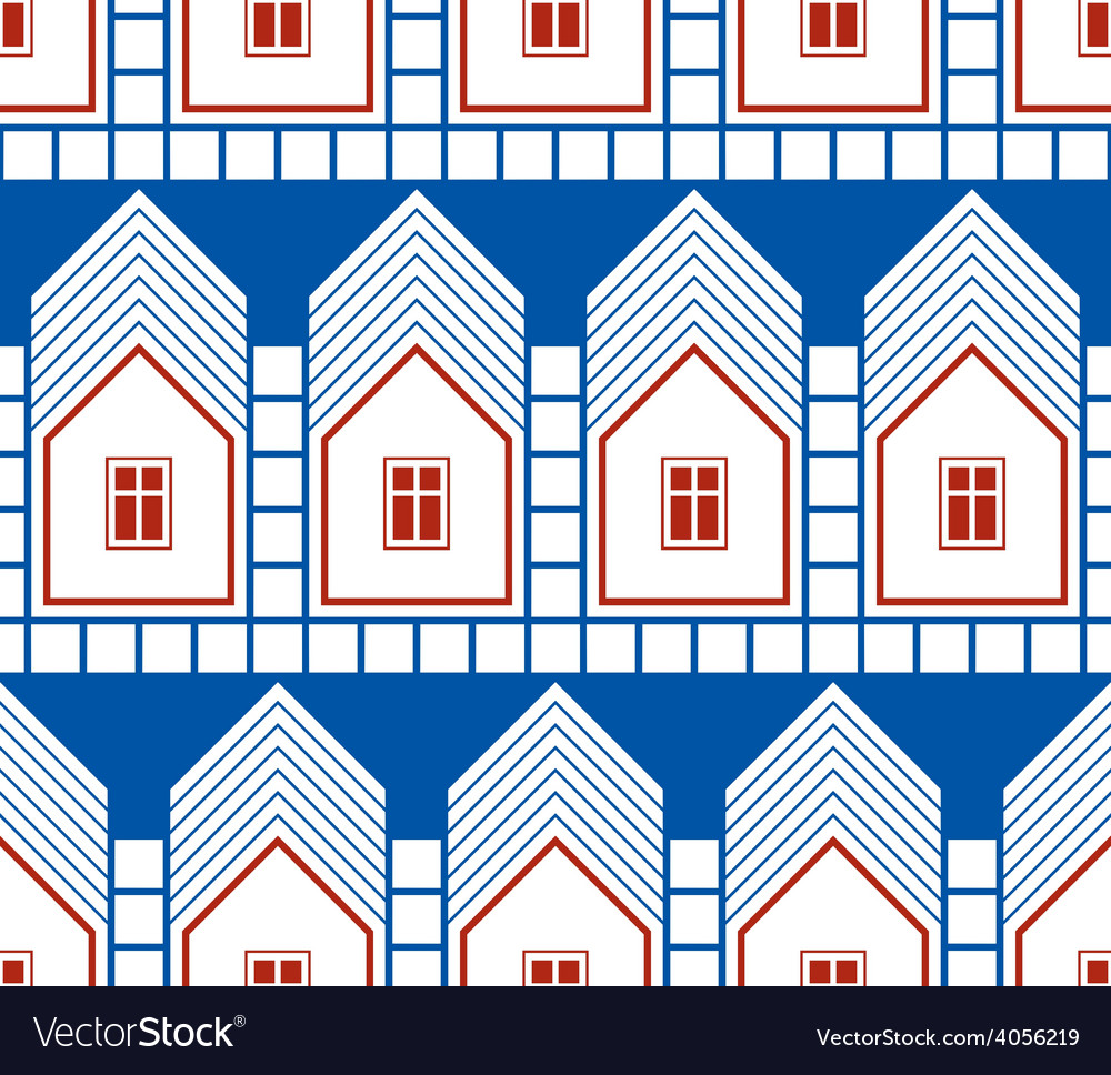 Abstract houses and cottages continuous background vector | Price: 1 Credit (USD $1)