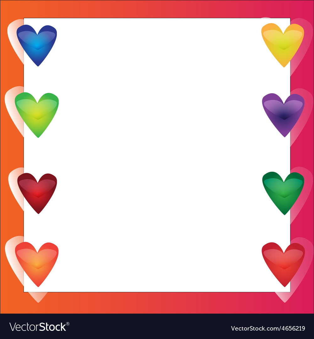 Bright frame - in love vector | Price: 1 Credit (USD $1)