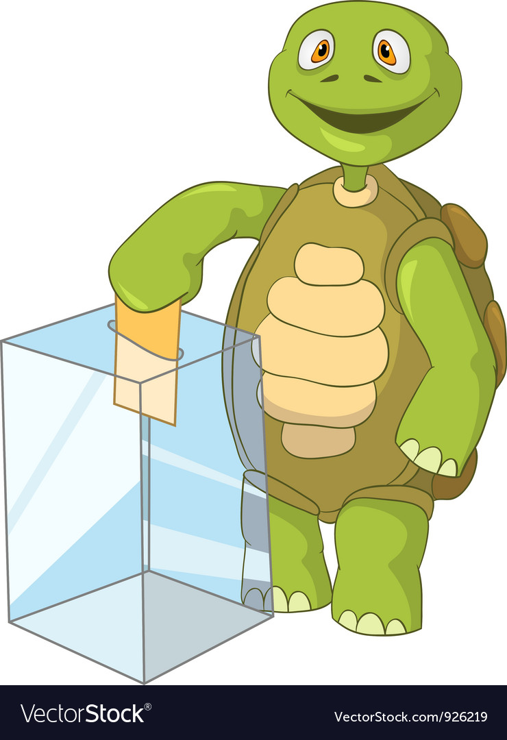Funny turtle election vector | Price: 3 Credit (USD $3)