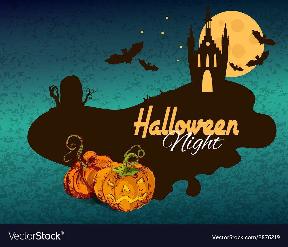 Halloween colored background vector | Price: 1 Credit (USD $1)