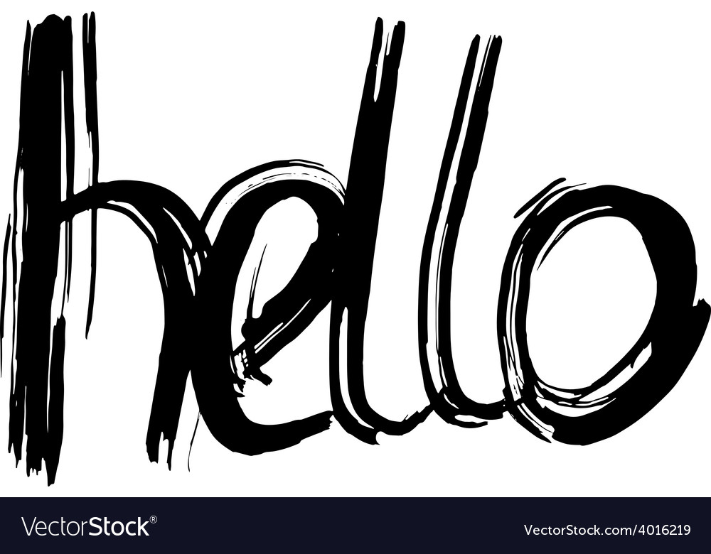 Hello hand lettering handmade calligraphy vector | Price: 1 Credit (USD $1)