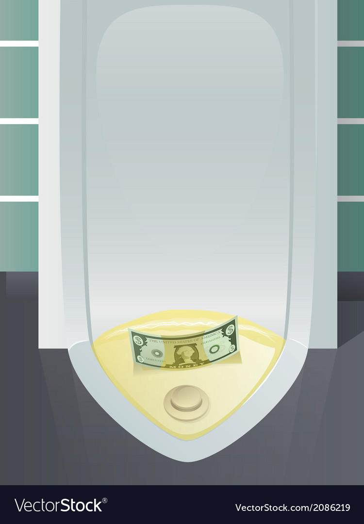 Money down the drain vector | Price: 1 Credit (USD $1)