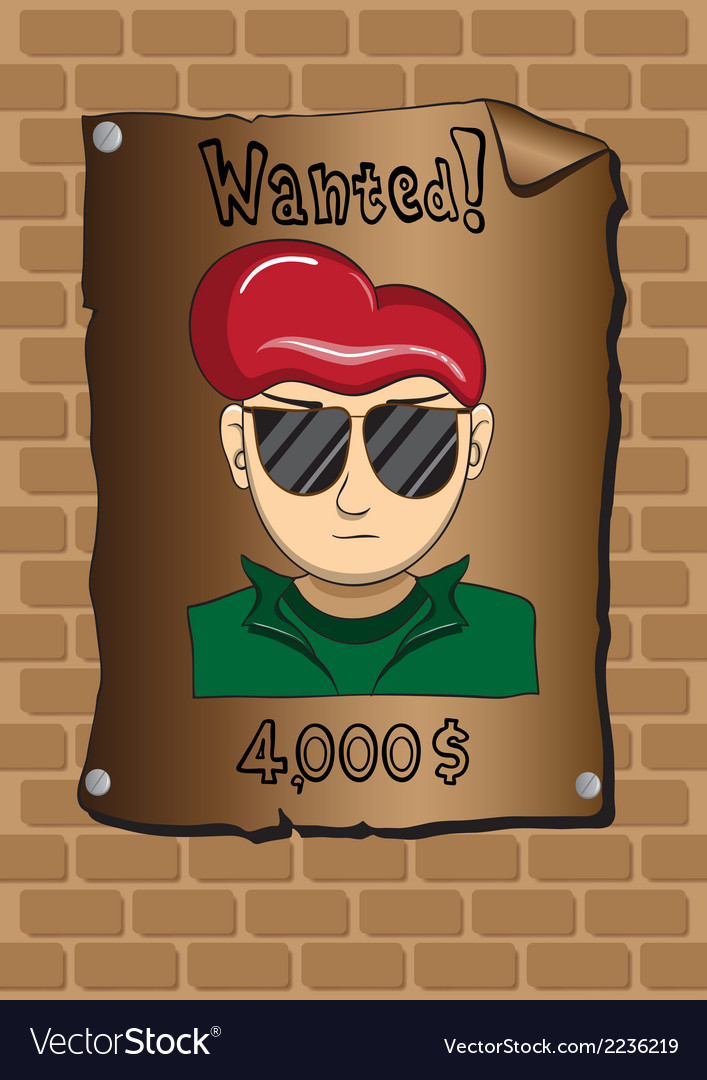 Posters of a wanted bandit vector | Price: 1 Credit (USD $1)
